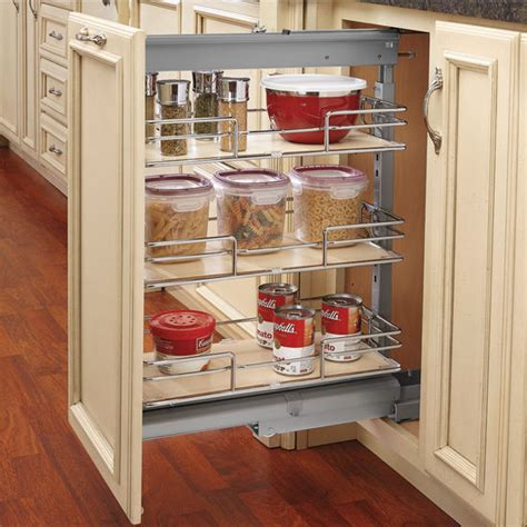 pull out inserts for kitchen cabinets rev a shelf shorty pull out pantry with maple shelves for