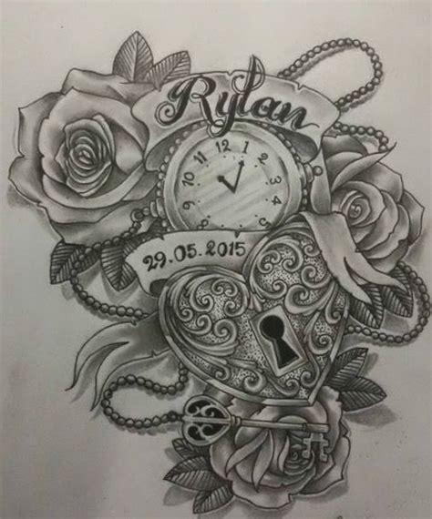 latest clock tattoo designs