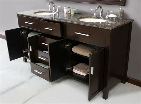60 inch bathroom vanity design element dec066dw malibu 60