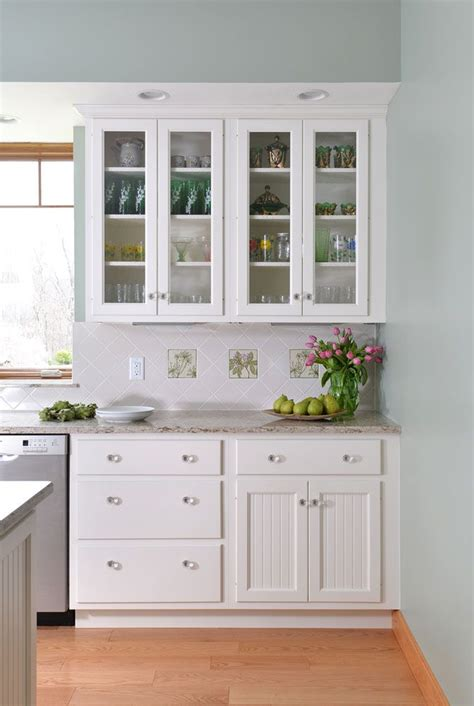 kitchen cabinets with glass on top bar harbor doors on top and bottom tops with glass insert
