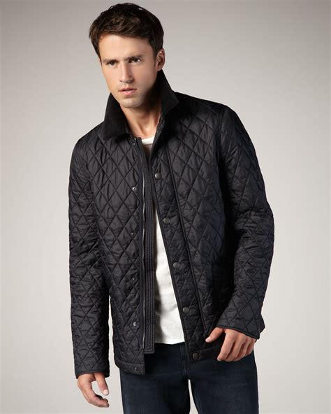 s burberry quilted jacket burberry brit classic quilted jacket in black for lyst
