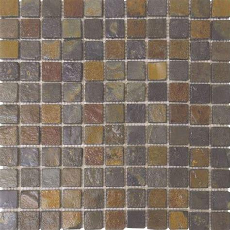 Bati Orient Tile by Bati Orient Mosaic 1 X 1 Rust Slate