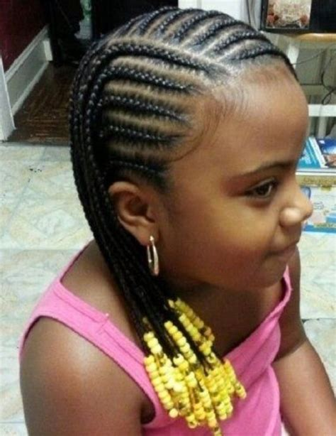 braids with beads for little girl paytie hair styles