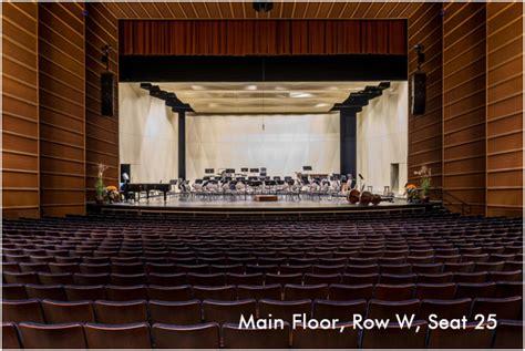 seating views peoria civic center theater peoria