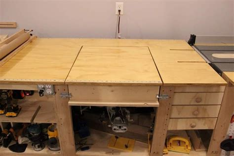 tablesaw router fliptop mitersaw dust collection