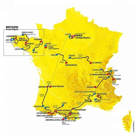 Juni 2021 i brest i bretagne. Tour de France 2021 - Découvrez le parcours - Sports Infos ...