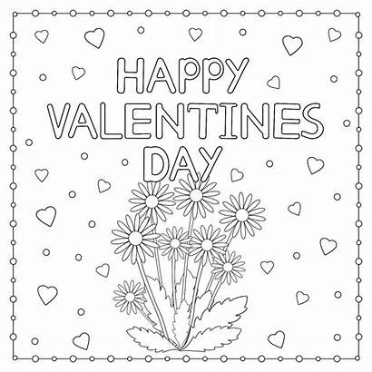 Coloring Valentines Pages Heart Themed Adults Happy