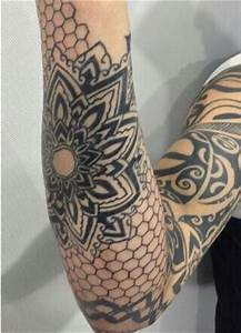 Honeycomb #geometric mandala tattoo | Tattoos | Pinterest
