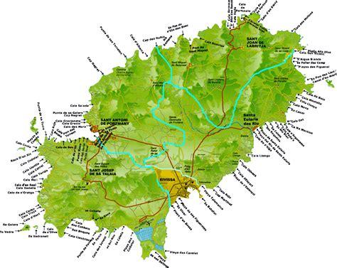 Ibiza Strände Karte