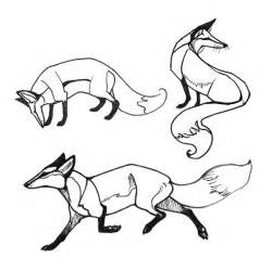 Fox Face Line Drawing