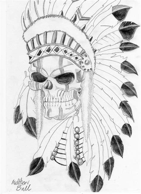 Tattoo Art | native indian skull tattoo by weemattyb