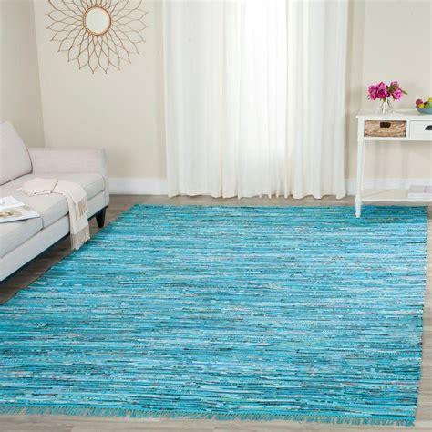 Turquoise Rag Rug safavieh rag rug turquoise multi 8 ft x 10 ft area rug