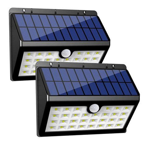 innogear solar lights 30 led wall light outdoor security