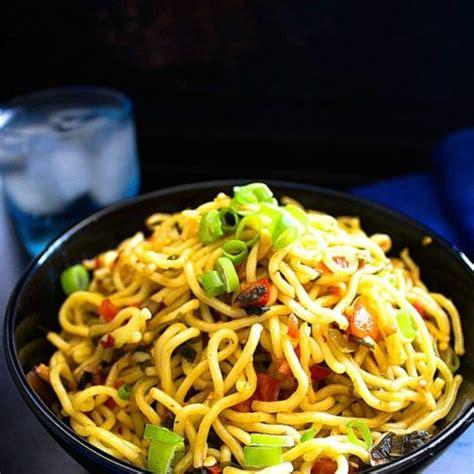 chilli garlic noodles video nish kitchen