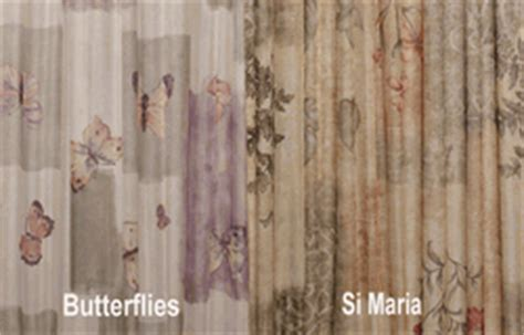 Sidelight Spring Tension Curtain Rods by French Door Curtains In Luxurious Printed Sheers Page 2