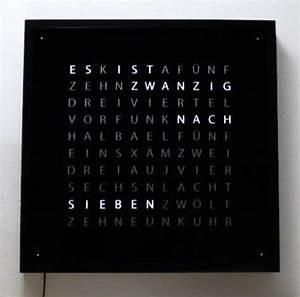 Wanduhr In Worten : wortuhr 50x50cm wanduhr zeit in worten design eigenbau ~ Michelbontemps.com Haus und Dekorationen