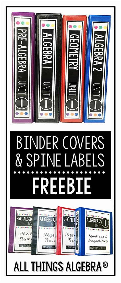 binder label stickers inspirational spine template