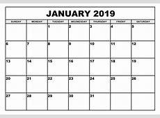 January 2019 Calendar Design Templates – Calendar Template