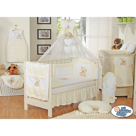 parures de lit bebe parure de lit b 233 b 233 compl 232 te ours teddy beige marron chambre b 233 b 233