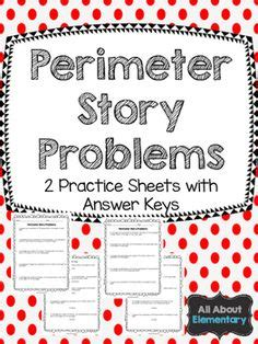 area  perimeter word problems freebie  images