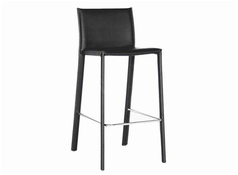 Crawford Black Leather Counter Height Stool