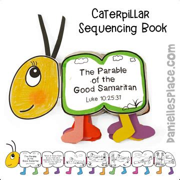 samaritan bible crafts for children 219 | caterpillar book pic 90 5
