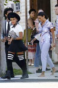 Janelle Mone And Solange Knowles In New Orleans Tom