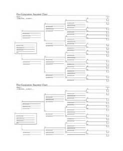 5 Generation Family Tree Chart Template