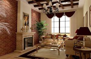 Red brick walls interior design for Red brick walls interior design