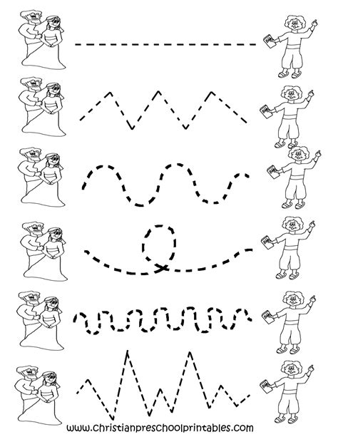 Free Printable Worksheets For Preschool  Preschool Tracing Worksheets  Places To Visit