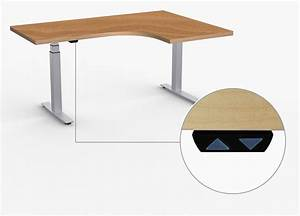 L Shaped Height Adjustable Table