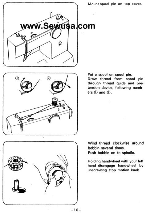 White Sewing Machine Threading Diagram Can