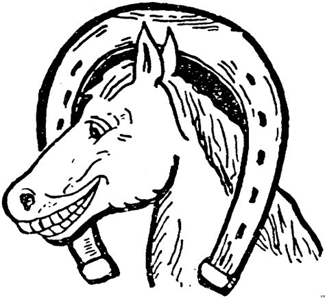 pferd im hufeisen ausmalbild malvorlage tiere