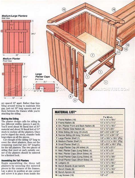 planter bench plans woodarchivist