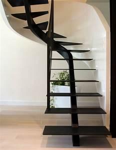 Escalier Quart Tournant Pas Cher : escalier quart tournant moderne escalier bois et blanc ~ Premium-room.com Idées de Décoration