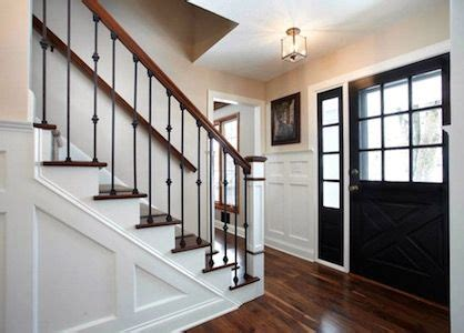 center hall colonial foyer remodeling ideas entry foyer hardwood floors updated