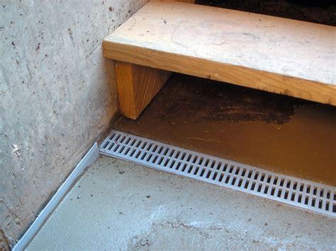 drain or drain tile system for leaky basement