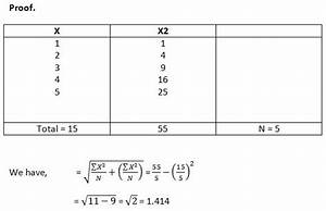 Algebraic Properties Of Standard Deviation Homework Help In Statistics