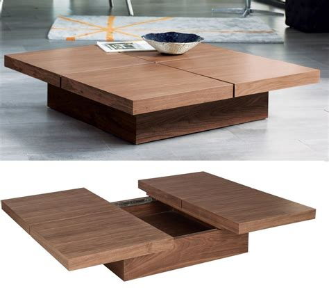Find out the detailed pics here. Stylish Coffee Tables That Double As Storage Units (With images)   Square wood coffee table ...