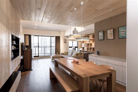 A Modern Apartment Celebrates The Look Of Wood by Apartment Celebrates The Look Of Wood By Partidesign
