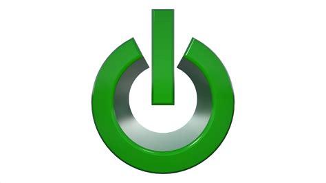 3d Power On / Off Symbol Logo Animation Motion Background
