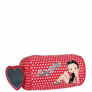 Betty Boop Large Pencil CaseCosmetic Bag Red White