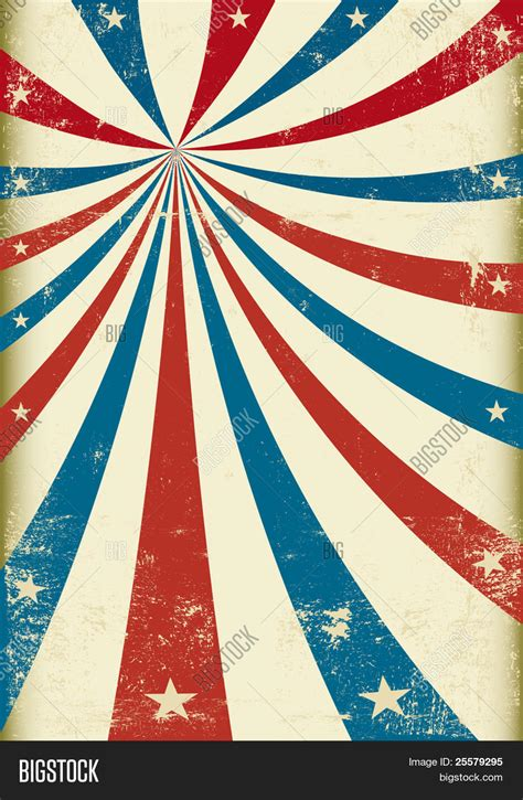 Circus Background Us Grunge Tricolor Circus Vector Photo Bigstock