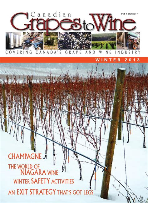 Cg2w win2013 by Canadian Grapes To Wine Issuu