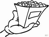 Popcorn Coloring Pages Printable Bag Grill Template Chips Shopping Outline Clipart Getcolorings Bucket Clip Clipartmag Box Templates Sketch Comments sketch template
