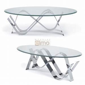 Table Basse Verre Et Acier : table basse verre ovale maison design ~ Teatrodelosmanantiales.com Idées de Décoration