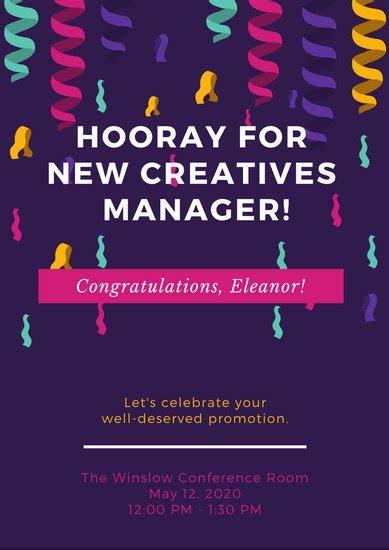 customize  congratulations poster templates  canva