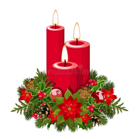 immagini di candele di natale candele di natale illustrazione vettoriale immagine di