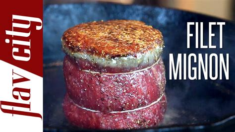 how to cook a filet mignon how to cook the perfect filet mignon flavcity with bobby youtube