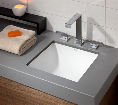 Small Drop In Bathroom Sinks by Square Drop In Undermount Sink Cheviot Products